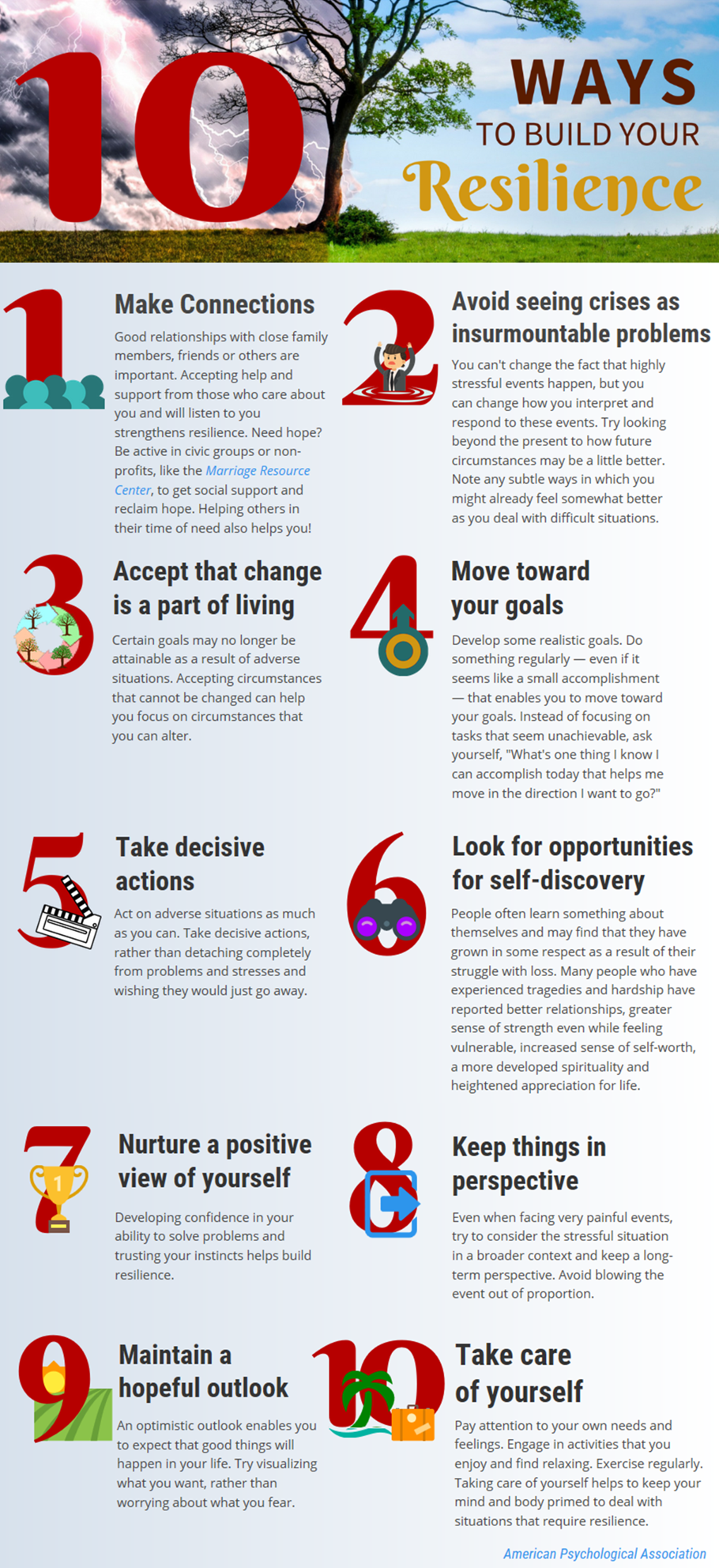 10 Ways to Build Your Resilience Infographic